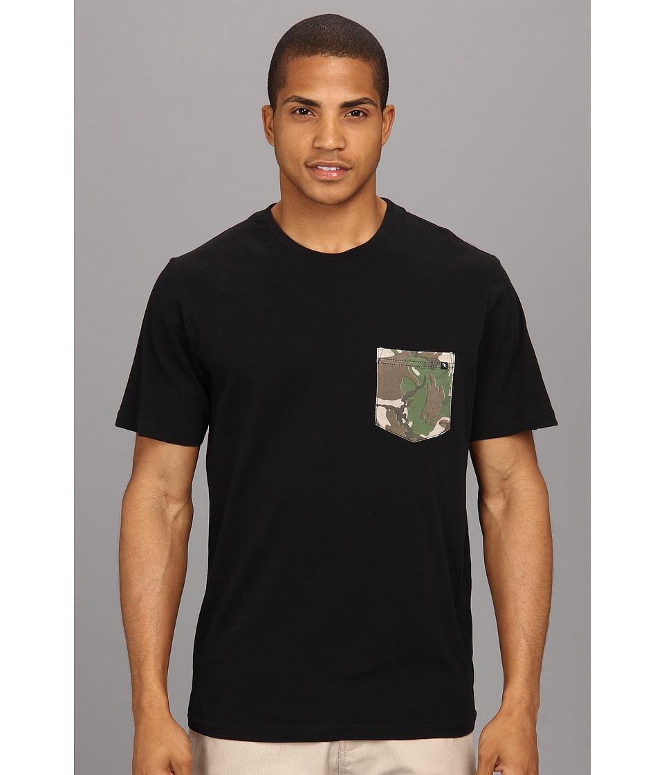 Rip Curl Pocket Combo Crew Mens Short Sleeve Pullover (Black)