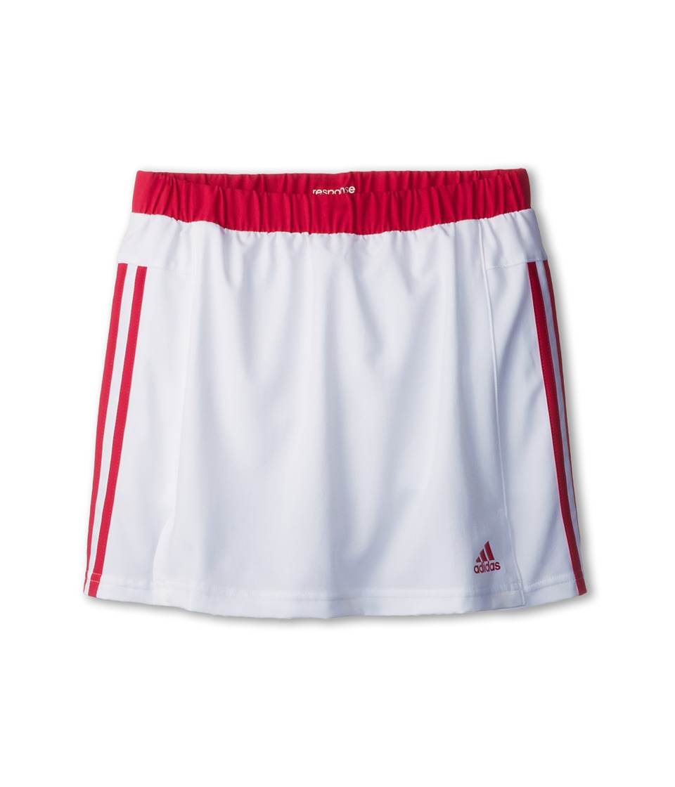 adidas Kids - Girls' Response Skort (Little Kid/Big Kid) (White/Bold Pink) Girl's Skort