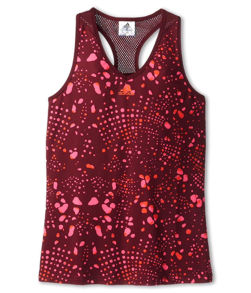 adidas Kids - Girls' Response Trend Tank - Print (Little Kid/Big Kid) (Amazon Red/Bold Pink) Girl's Sleeveless
