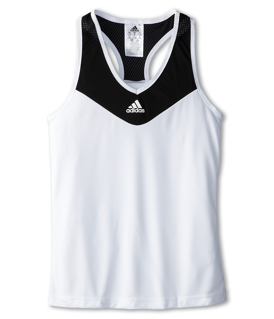 adidas Kids - Girls' Response Trend Tank (Little Kid/Big Kid) (White/Black) Girl's Sleeveless