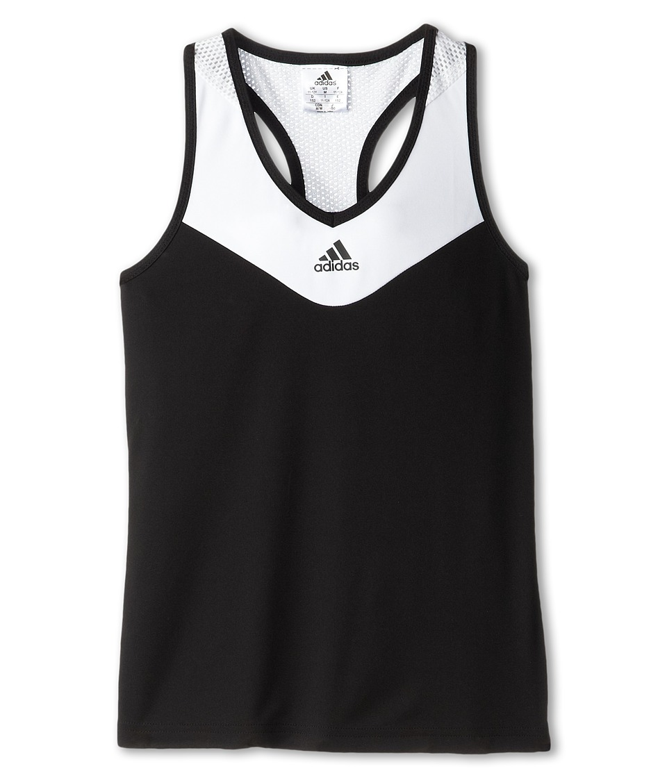 adidas Kids - Girls' Response Trend Tank (Little Kid/Big Kid) (Black/White) Girl's Sleeveless
