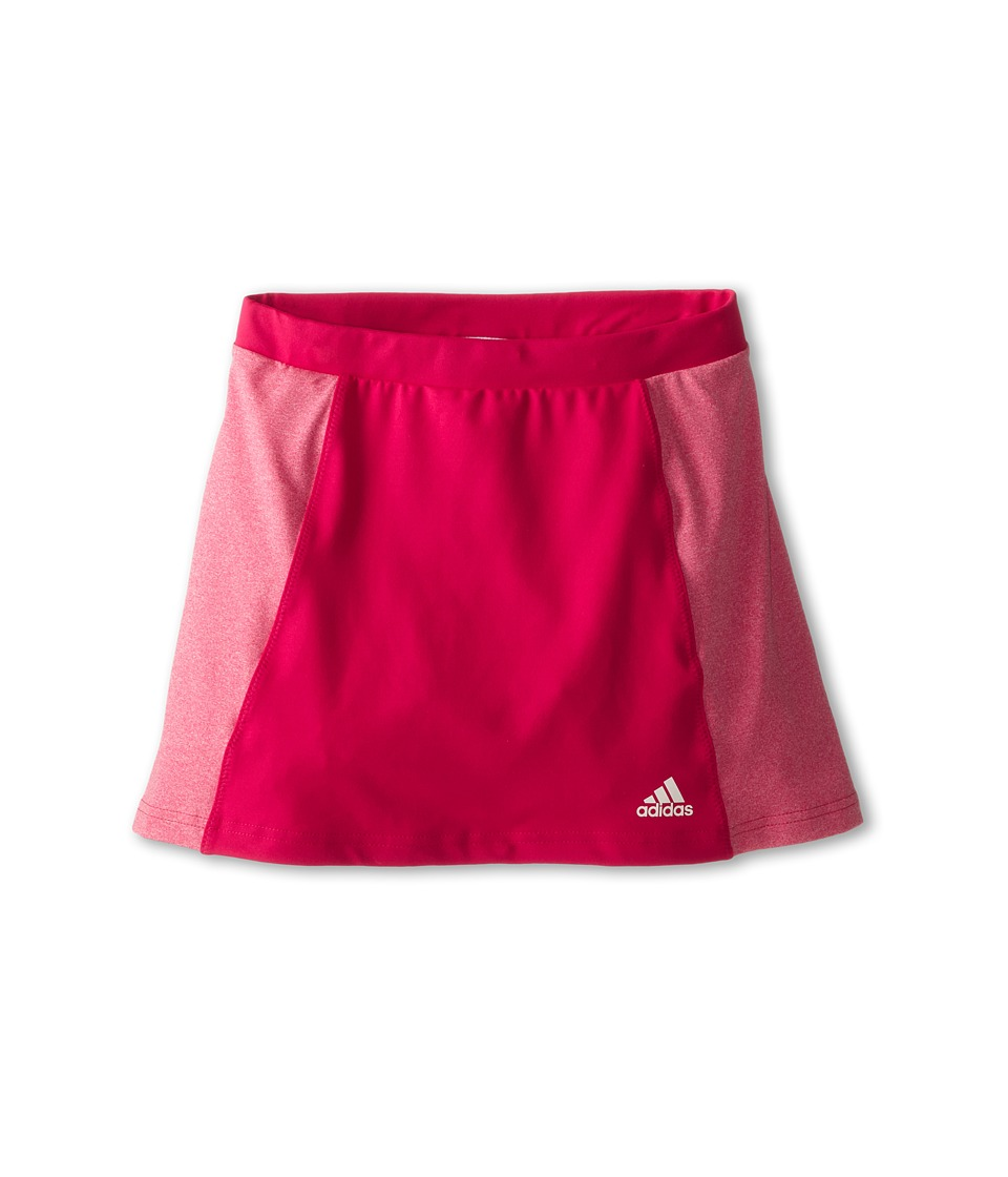 adidas Kids - Girls' Tennis Core Skort (Little Kid/Big Kid) (Bold Pink/Heather Pink) Girl's Skort