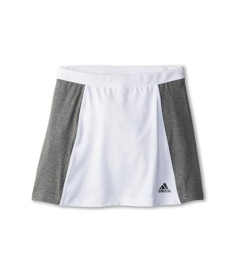 adidas Kids - Girls' Tennis Core Skort (Little Kid/Big Kid) (White/Heather Grey) Girl's Skort