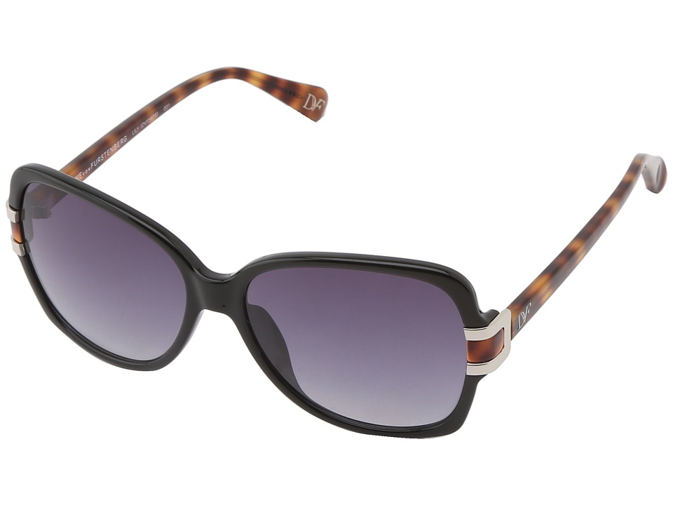 Diane von Furstenberg - Lily (Black/Smoke Gradient) Fashion Sunglasses