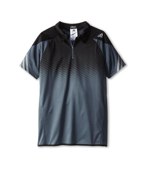 adidas Kids - Boys' Adizero Polo (Little Kid/Big Kid) (Bold Onix/Black) Boy's Short Sleeve Pullover