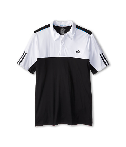 adidas Kids - Boys' Response Traditional Polo (Little Kid/Big Kid) (Black/White) Boy's Short Sleeve Pullover