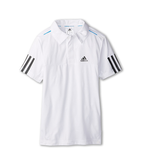 adidas Kids - Boys' Response Traditional Polo (Little Kid/Big Kid) (White/Black) Boy's Short Sleeve Pullover