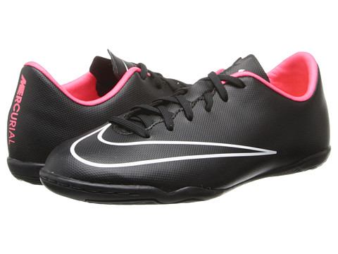 Nike Kids - Jr Mercurial Victory Indoor Soccer (Toddler/Little Kid/Big Kid) (Black/Hyper Punch/Black) Kids Shoes