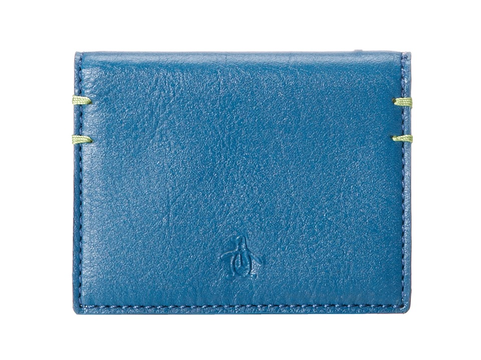 Original Penguin - Leather Wallet (Blue Sapphire) Bi-fold Wallet