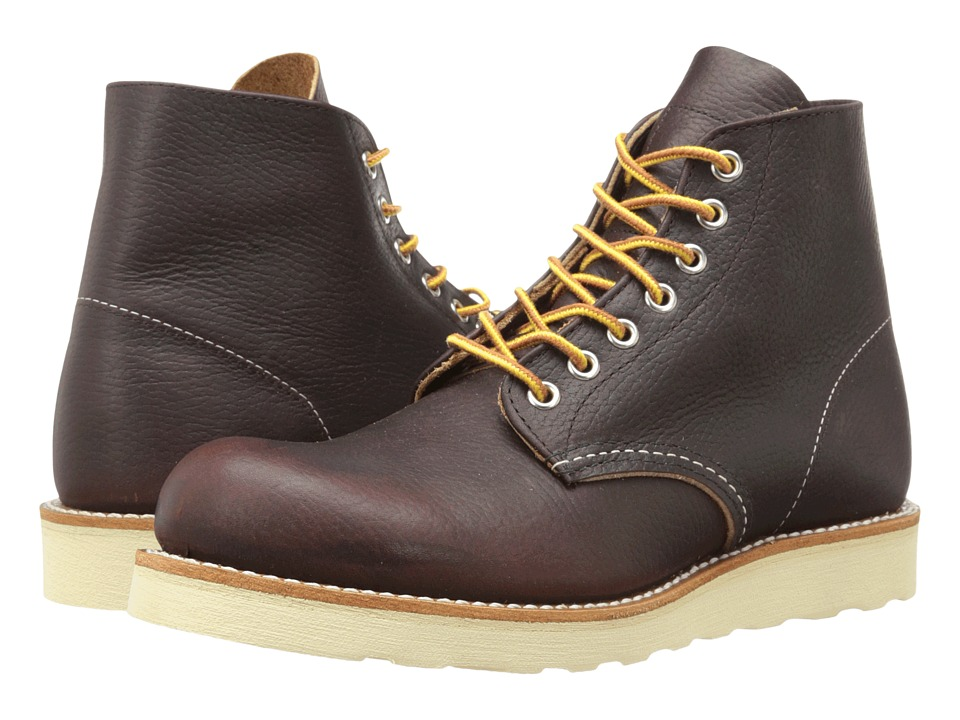 Red Wing Heritage - Classic Work 6 Round Toe (Briar Oil Slick) Men's Lace-up Boots