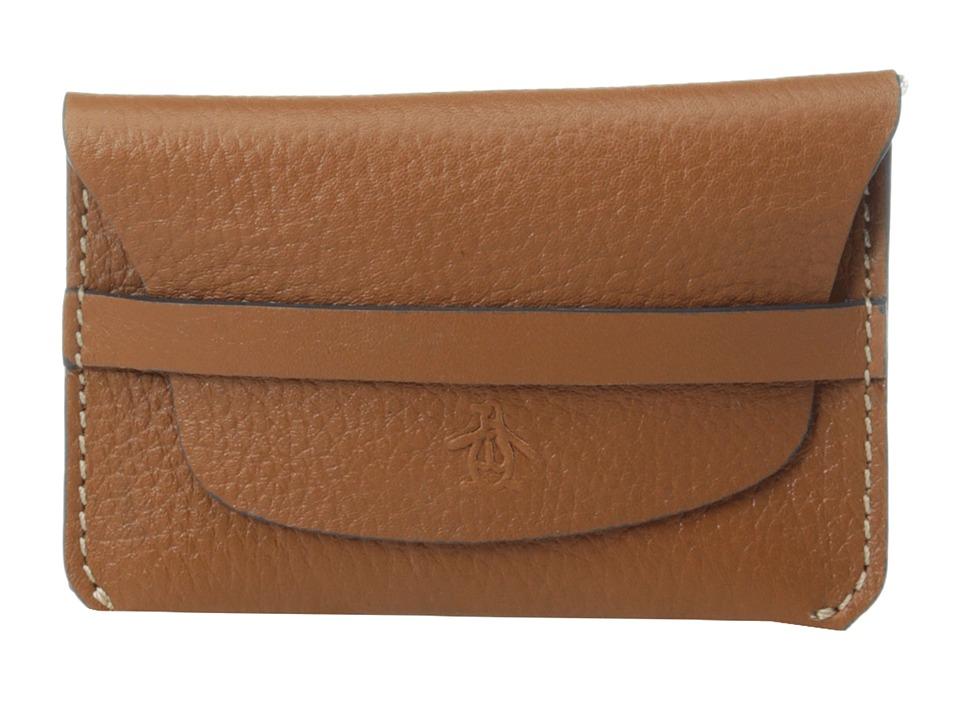 Original Penguin - Slim Leather Wallet (Tan) Wallet Handbags