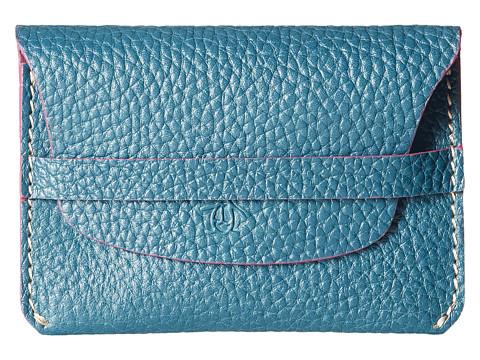 Original Penguin - Slim Leather Wallet (Blue Sapphire) Wallet Handbags