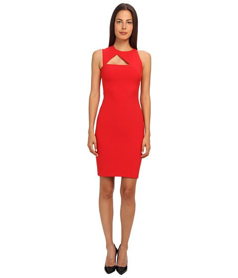 Versace Collection Cutout Neckline Sheath Dress (Fire Red) Women's Dress
