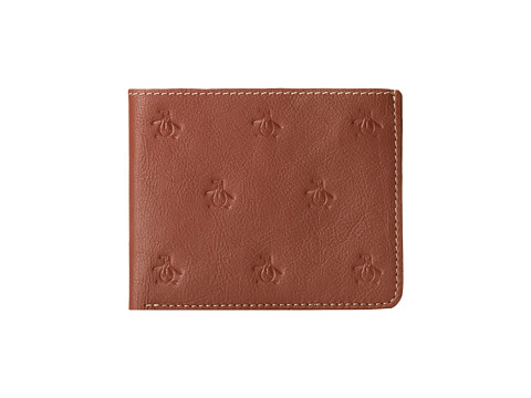 Original Penguin - Embossed Wallet (Tan) Wallet Handbags