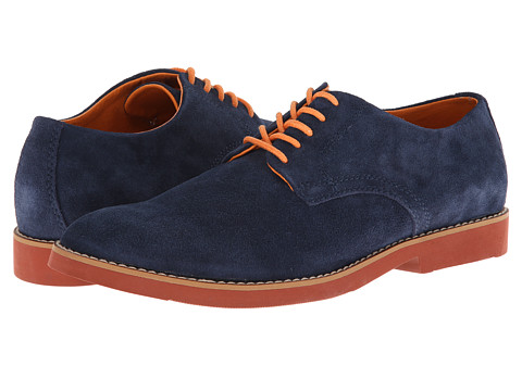 BUKS by Walk-Over - Declan (Navy Suede) Men's Lace up casual Shoes
