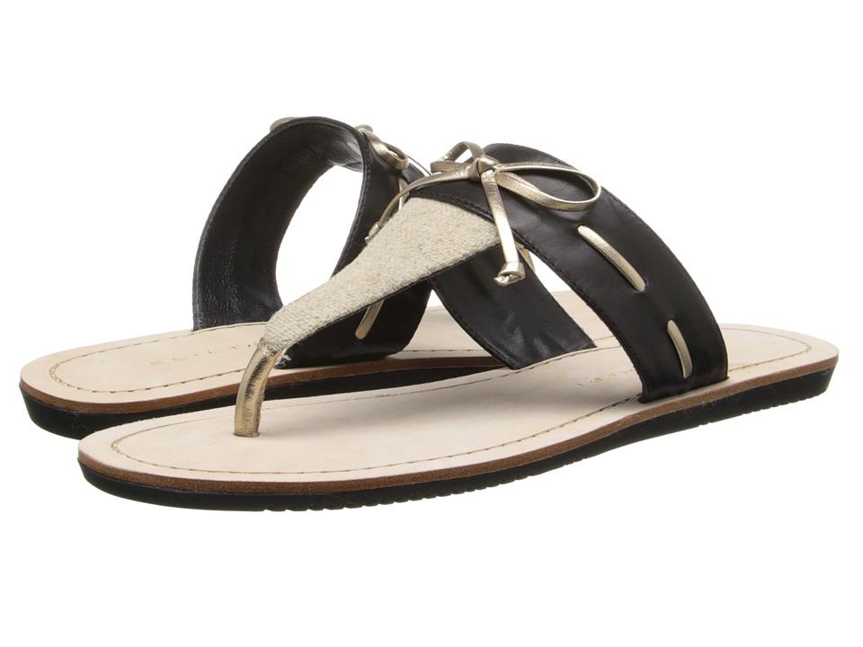 Elie Tahari - Nala (Natural/Black/Pale Gold) Women's Sandals