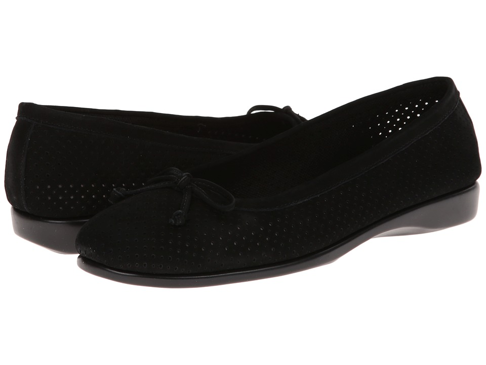 Aerosoles - Nashville (Black Nubuck) Women's Slip on Shoes