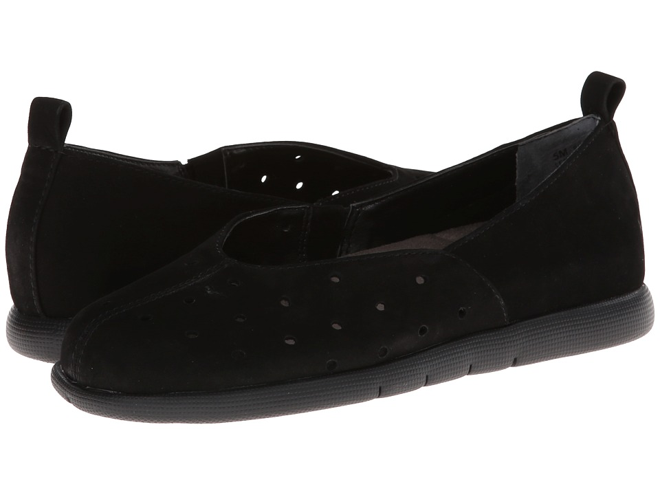 Aerosoles - Skipping Stone (Black Nubuck) Women's Slip on Shoes