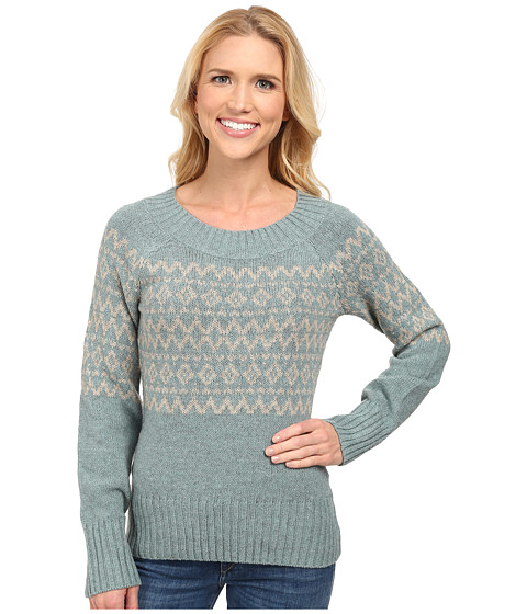 Royal Robbins - Three Seasons Pullover (Blizzard Blue/Light Khaki) Women's Sweater