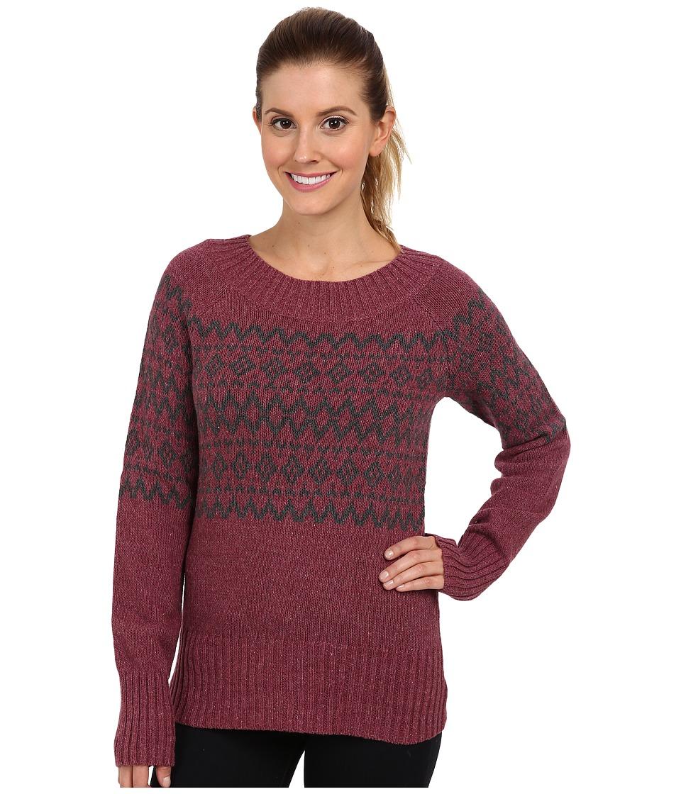 Royal Robbins - Three Seasons Pullover (Dark Cranberry/Charcoal) Women's Sweater
