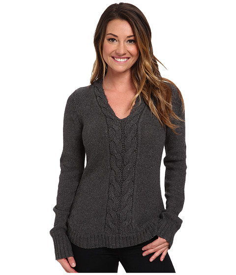 Royal Robbins - Three Seasons V-Neck (Charcoal) Women's Sweater