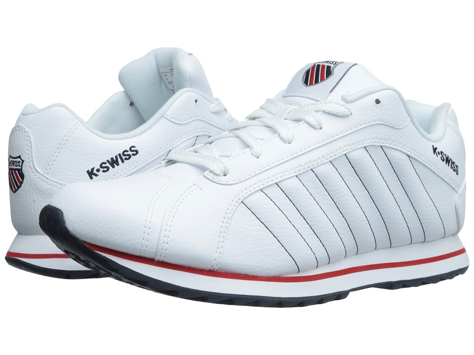 K-Swiss - Verstad III S (White/Navy/Red) Men's Shoes