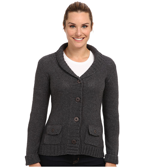 Royal Robbins - Lily Cardigan (Charcoal) Women's Sweater