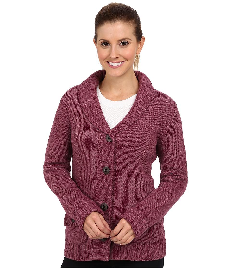 Royal Robbins - Lily Cardigan (Dark Cranberry) Women's Sweater