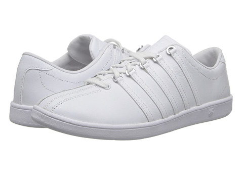 K-Swiss - Classic SL (White/White/Silver) Women's Shoes