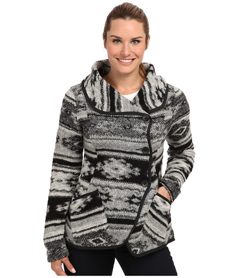 Royal Robbins - Blanket Jacquard Wrap (Charcoal) Women's Sweater