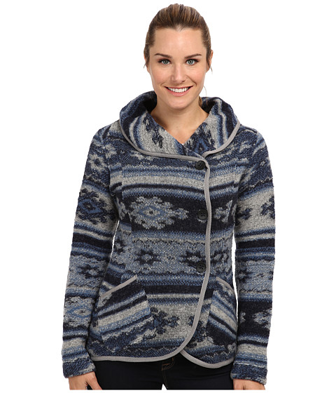 Royal Robbins - Blanket Jacquard Wrap (Deep Cobalt) Women's Sweater
