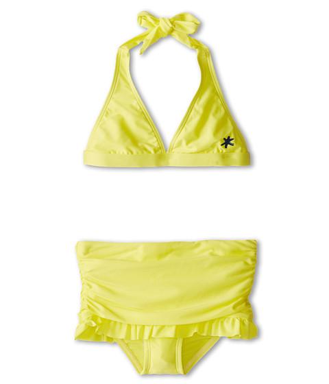 Splendid Littles - Flower Market Halter Skirted Pant (Big Kids) (Yellow) Girl's Swimwear Sets