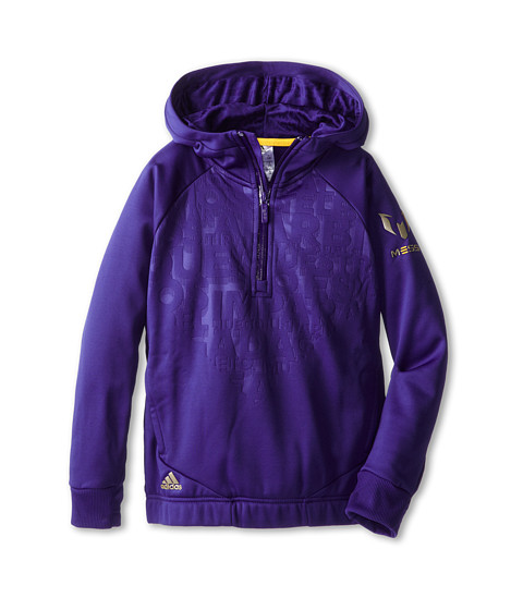 adidas Kids - Youth Messi Full-Zip Hoodie (Little Kid/Big Kid) (Amazon Purple) Boy's Sweatshirt