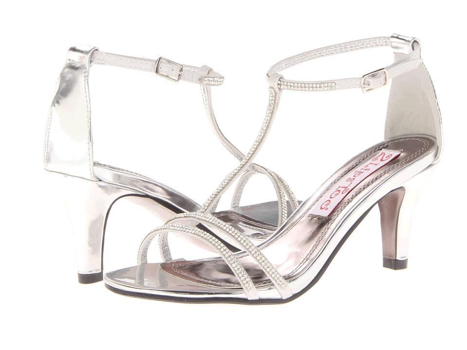 2 Lips Too Too Eventful (Silver) High Heels