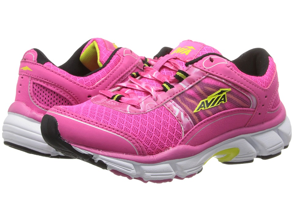 Avia Kids - Avi-Play (Toddler/Little Kids/Big Kids) (Passion Pink/Black/Lime) Girls Shoes