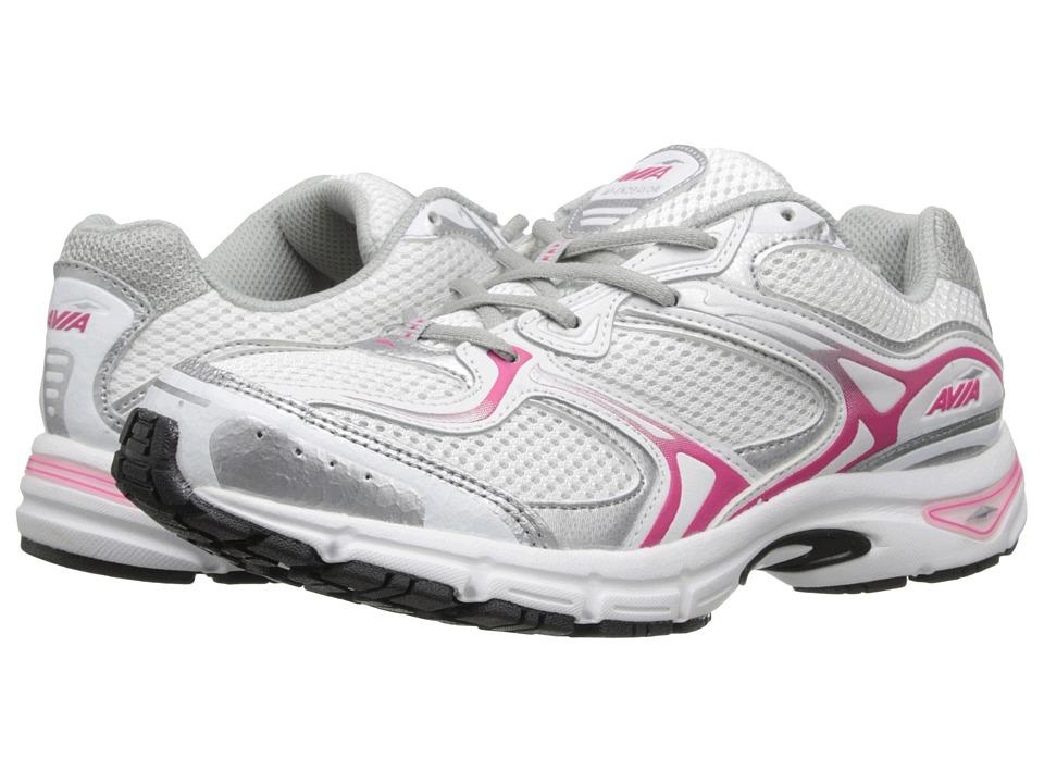 Avia - Avi-Endeavor (White/Chrome Silver/Zuma Pink) Women's Shoes