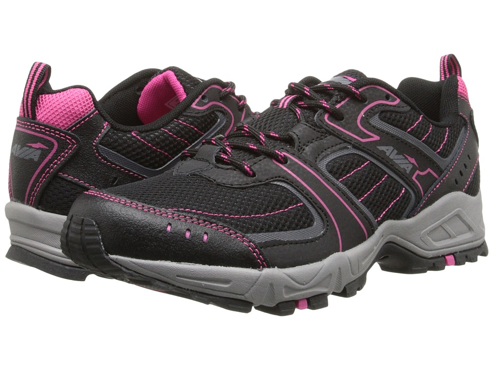 Avia Avi-Dell (Black/Iron Grey/Zuma Pink) Women