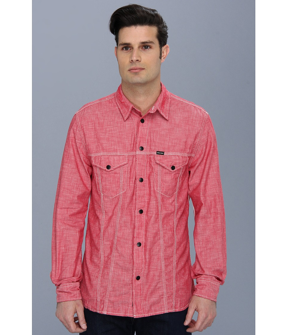 Diesel - Stulip Shirt (Crimson) Men's Long Sleeve Button Up