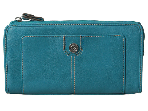 Relic - Bleeker Checkbook (Turquoise) Checkbook Wallet