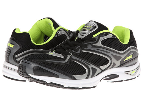 Avia - Avi-Endeavor A6174M (Black/Steel Grey/Cinder Grey/Lime Shock) Men