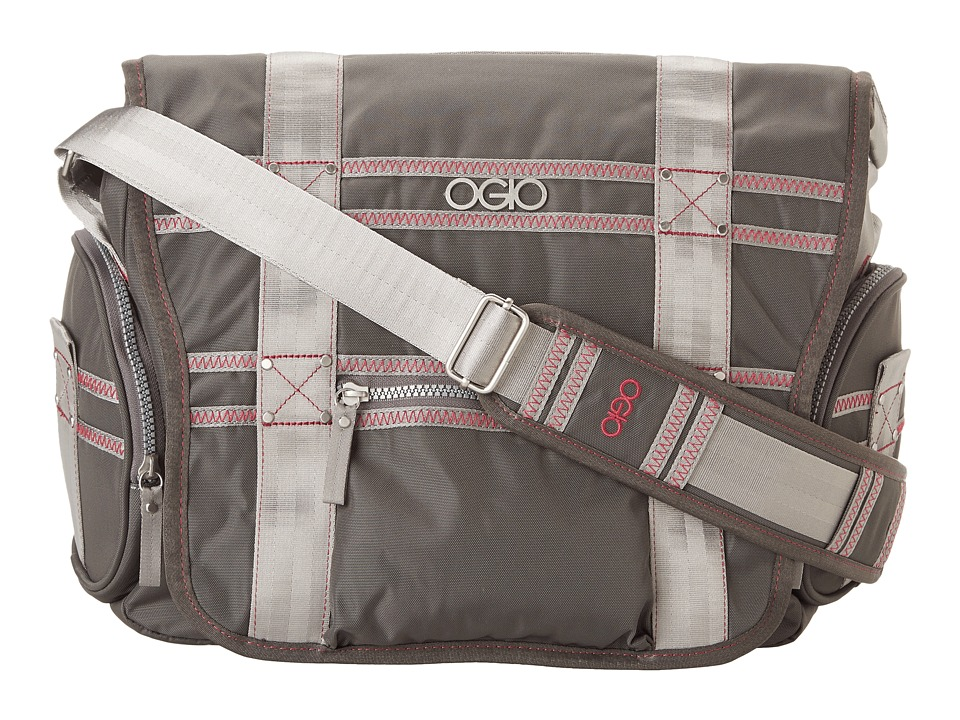 OGIO - Monaco Messenger (Gray/Pink) Messenger Bags