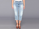 DKNY Jeans Plus Size Soho Skinny Rolled Crop (Icy Brook Wash)