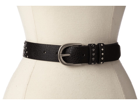 Relic - Pyramid Stud Jean (Black) Women's Belts