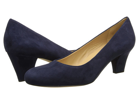 Trotters - Penelope (Navy Kid Suede) High Heels