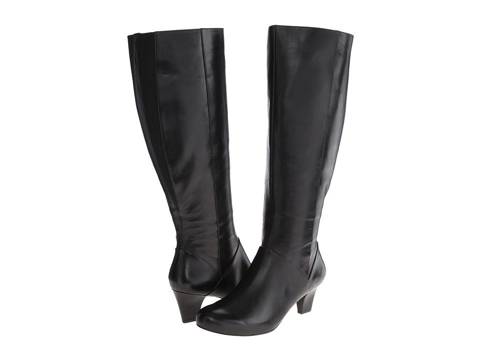 Trotters - Posh Too - Wide Calf (Black Calf Leather) Women's Boots