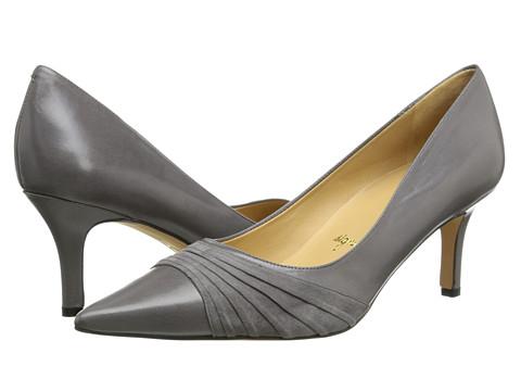Trotters - Alexandra (Dark Grey Glazed Kid Leather/Kid Suede) Women's 1-2 inch heel Shoes