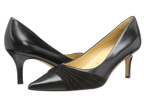 Trotters - Alexandra (Black Glazed Kid Leather/Kid Suede) Women's 1-2 inch heel Shoes