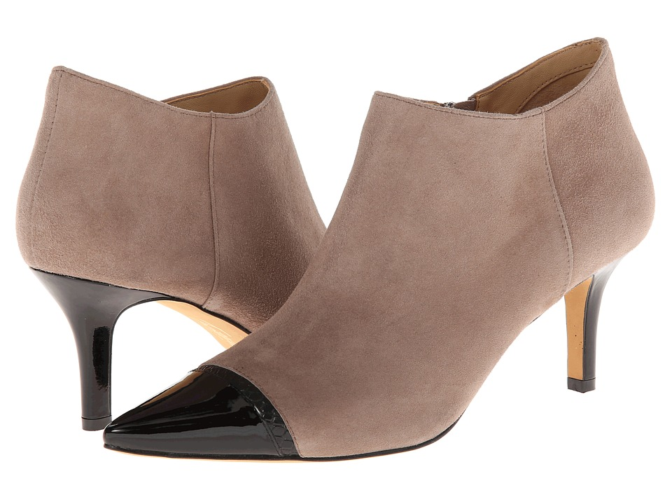 Trotters - Alana (Dark Nude Kid Suede/Black Embossed Leather/Patent Leather) Women's Boots