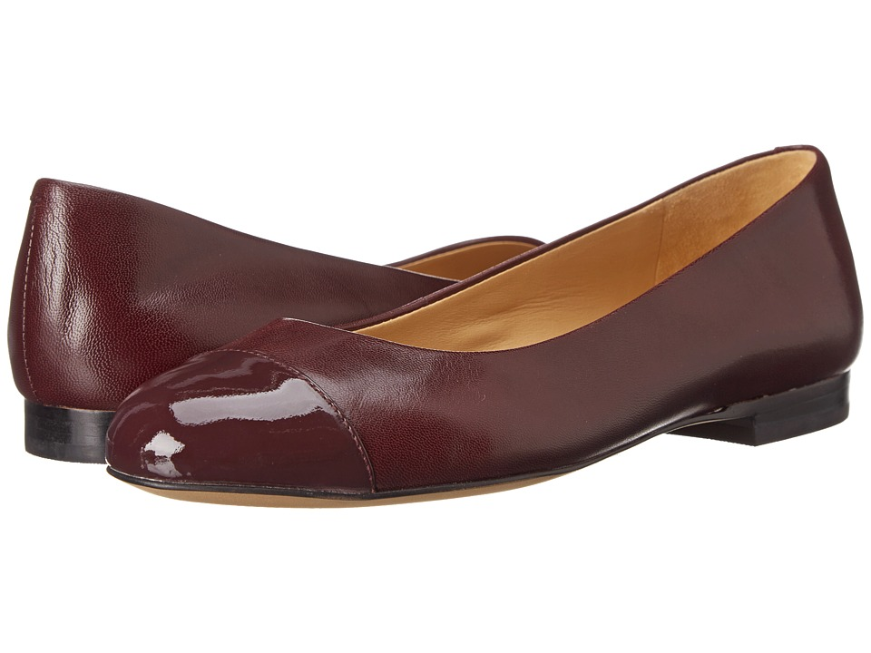 Trotters - Chic (Merlot Glazed Kid Leather/Patent Leather) Women's Slip on Shoes