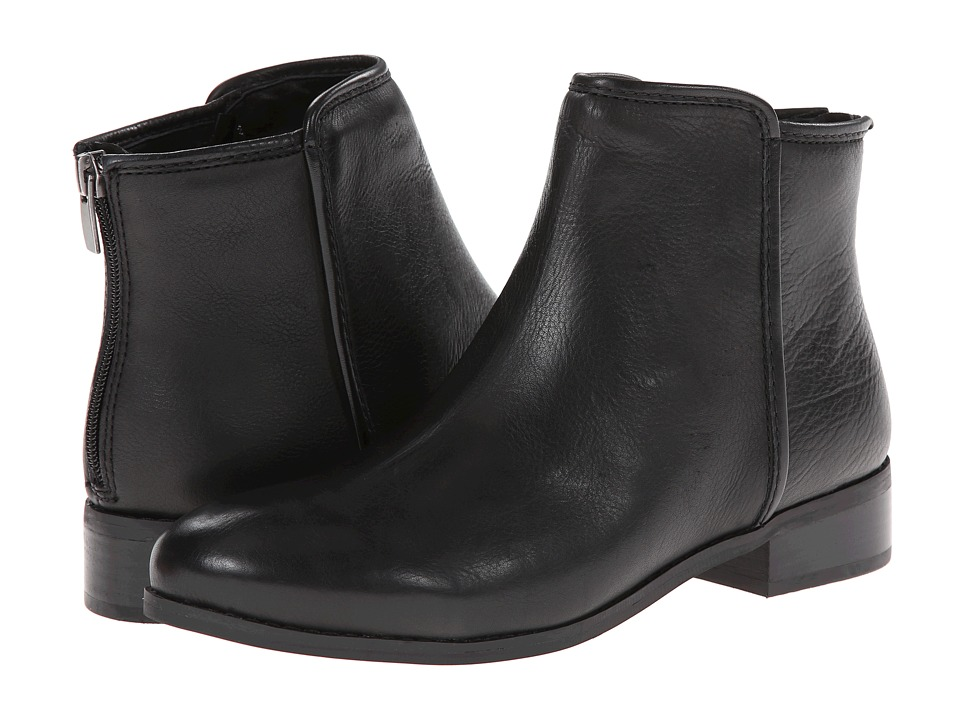 Trotters - Ladue (Black Veg Tumbled Leather) Women's Boots